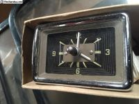 NOS VW Bus Deluxe clock 13-15-21-23 window