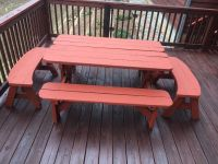 Convertible Picnic Table w/ 2 curved side benches