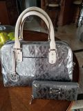 Michael Kors signature Large Satchel made from Mirror metallic with Vachetta leather trim, with matching wallet