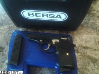 For Sale: Black and gold .380 Bersa