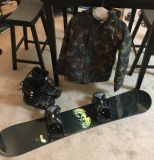 Boys morrow snowboard burton jacket includes boots and bindings