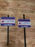 2 Guardian home alarm signs to put in your yard. Like new.