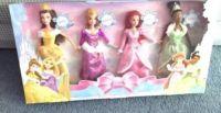 Disney Princess Doll Set Cinderella Tiana Rapunzel Belle