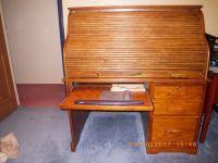 oak rolltop computer desk