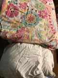 Queen PB duvet cover and much loved feather bed
