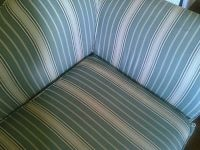 2 SOFAS + 2 ps SLIPCOVERS, CHAISE LOUNGE STRIPED WASHABLE SLIPCOVERS