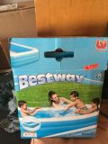 Family size blow up pool used 1 time 120x72. 22inches high