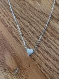 Silver fashion heart necklace new