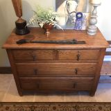 Antique Dresser. Oak. Working Drawers. Gorgeous Coloring, Aged Beautifully.