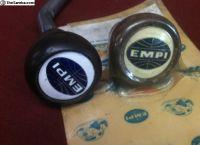 REAL 1960s EMPI woodgrain / enamel shift knobs