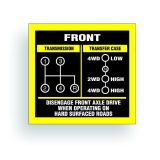 Buy TRANSMISSION SHIFT PATTERN decal fits willys, cj jeep 4 speed 1 TC AR011 motorcycle in Mentor, Ohio, United States, for US $9.98