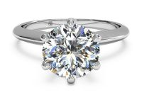 1 KT Solitaire Diamond Ring - White gold