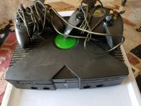 X box with 4 controllers