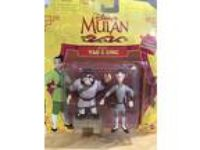 1997 Vintage Disney's Mulan Yao & Ling/Fully Posable