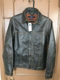 NEW with tag dark brown leather coat. Size XSmall. Very nice!