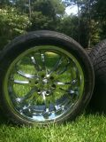 22 inch rims and tires-6 lug-$1000 OBO (Pineville Louisiana)