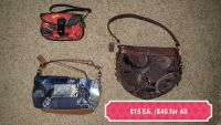 Small Coach Purses and Dooney & Bourke Wristlet