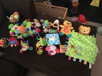 Baby toy rattle car seat and plush toy lot