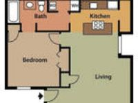 Spacious 1 Two BR Floorplans.