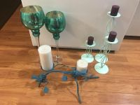 Teal and green decor (lot)