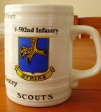502 Infantry Beer stein