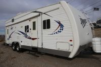 Travel trailer toyhauler with seperate garage