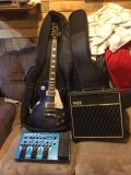 Epiphone les Paul guitar with multiple effects pedal and vox 54w amp!!