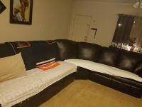 Sectional sofa with 2 recliners