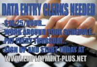 Data Entry Clerk Needed