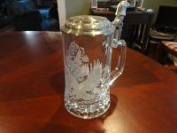 Glass Etched Eagle Stein