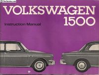 1964 VW Type 3 1500 Instruction Manual