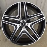 """Purchase 22"""" Wheels fit Mercedes Rims Tires G Wagon G55 G550 G500 AMG G63 Black Machine motorcycle in Rancho Cucamonga, California, United States, for US $1,420.00"""