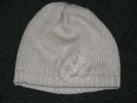 cream and silver girls knit hat sz 8 l/xl Childrens Place