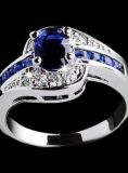 New size 9 blue stone band ring
