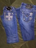 """Girls """"Miss Me""""jeans.Size 12 boot cut like new"""