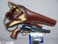 For Sale/Trade: Pietta 1858 36 cal New Navy Steel Frame Remington Revolver with Shoulder Rig and 38 Conversion
