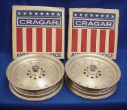 "Purchase CRAGAR SUPER TRICK 15X3-1/2"" FRONT RIMS WHEELS GASSER CHEVY FORD DODGE AMC OLDS motorcycle in Leo, Indiana, United States, for US $449.00"