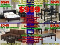 $999, Any type of furniture, mattress queen bed sectional sofa loveseat