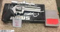 For Sale: TAURUS RAGING BULL 454 CASULL WITH LEUPOLD PISTOL SCOPE AND DIES