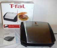 T-fal 4-Burger Curved Grill with Non-Stick Plates ~ tabletop Model #GC430D52