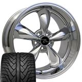 """Purchase Chrome Mustang Bullitt Wheels 20x8.5 & 10"""" & 20 Inch tires 2005+ Rims Deep Dish motorcycle in Katy, Texas, US, for US $1,349.00"""