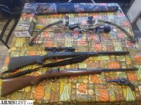 For Sale/Trade: Rifle, revolver, muzzleloader, compound bow, meat processing & camo FS/FT