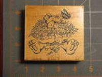 "Art Impressions ""Teddy w/ Bouquet"" rubber stamp P-1361"