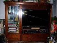 cherry wood living room armoire