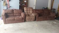 Matching sofa and loveseat and free recliner