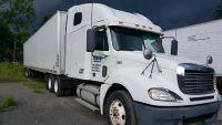2010 Freightliner Columbia w/ 2012 Dry Van Utility Trailer