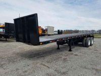 $18,900, 2008 Lufkin 32#39; Flatbed Piggyback Moffett Forklift Trailer