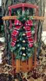 Decorated 1950s Antique Sled
