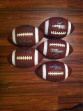 5 Wilson NCAA official size composite leather footballs