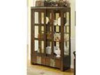 Riverside China closet. Slate, distressed pine and antique bronze